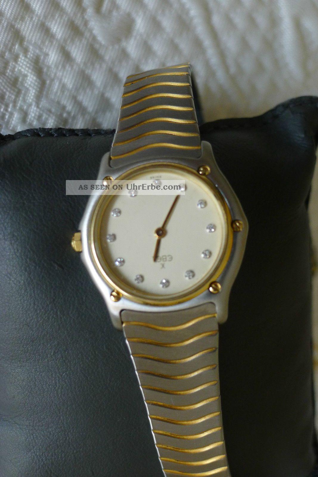 Ebel Classic Wave Damenarmbanduhr Mit Diamantzifferblatt Jetzt Reduziert Armbanduhren Bild