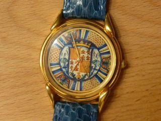 Uhr Damen Quarz Bunt Palazzo Brugiotti Läuft Einwandfrei Bild