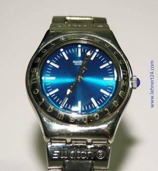 Damenuhr Swatch Escapade Yls111g Irony Edelstahl Blau Mit Neuer Batterie.  Top Bild