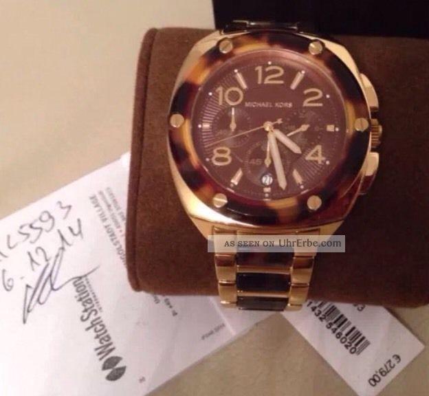 Michael Kors Uhr - Mk Tribeca Edelstahl Gold Armbanduhr Chronograph Armbanduhren Bild