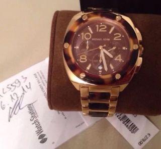 Michael Kors Uhr - Mk Tribeca Edelstahl Gold Armbanduhr Chronograph Bild