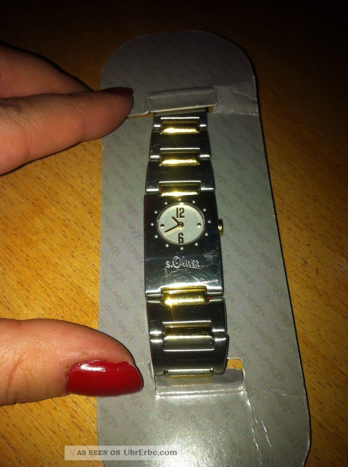 Damenuhr Soliver S.  Oliver Mit Orginal Verpackung Uhr Damen Edelstahl Armbanduhren Bild