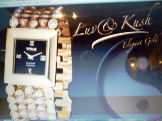 Damenarmband,  Marke: Luv & Kush,  Vergoldet,  Mit Schmucksteinen Bild