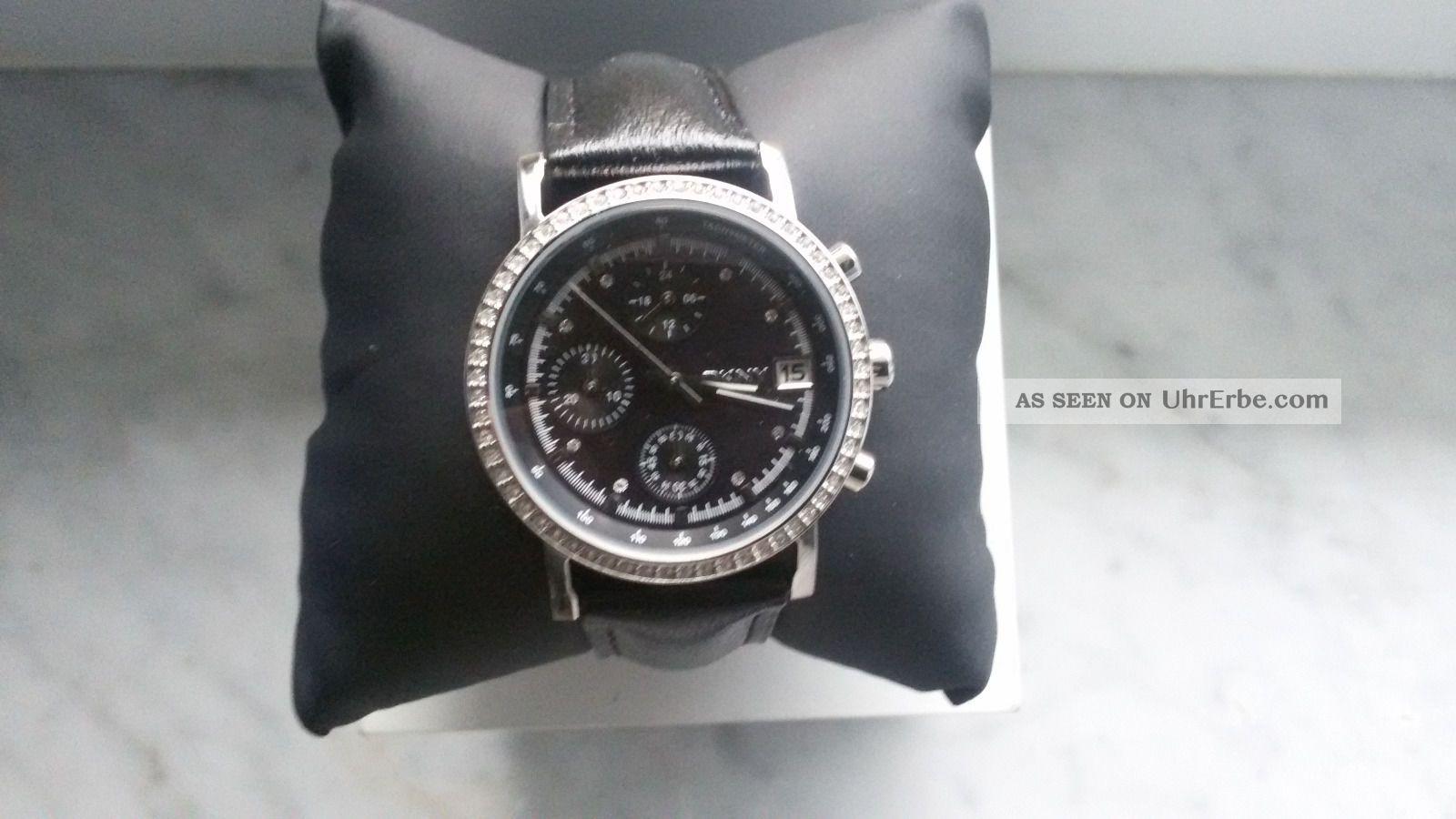 Dkny Armbanduhr Damenuhr Ny - 8365 Strass Silber Armbanduhren Bild