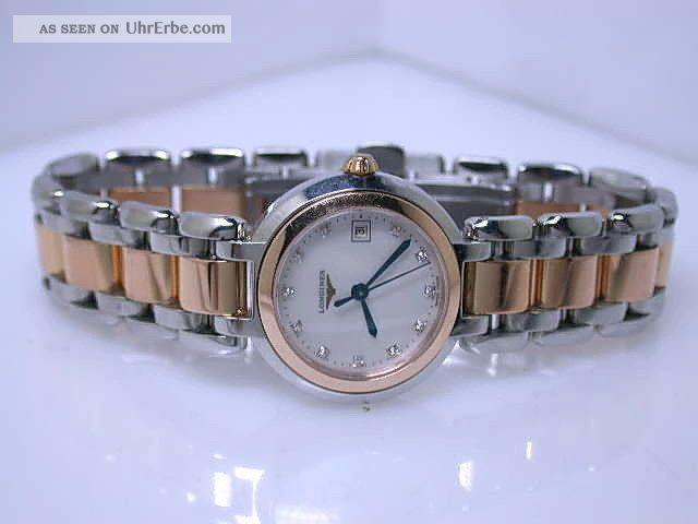 Longines Primaluna Perlmuttblatt M.  Diamanten 750/000 RosÉgold/edelstahl Damen Armbanduhren Bild