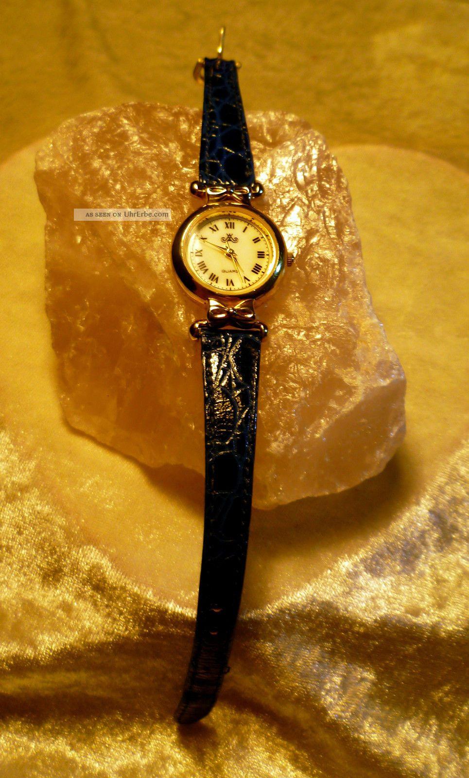Meister Anker Damen Leder Armband Uhr 809.  181 1/109 Vintage Erbstück Von Oma Armbanduhren Bild