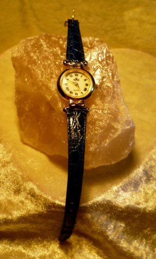 Meister Anker Damen Leder Armband Uhr 809.  181 1/109 Vintage Erbstück Von Oma Bild