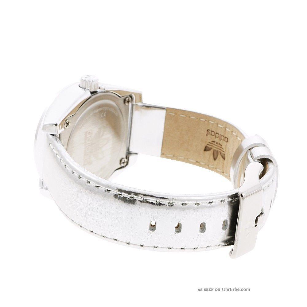 Adidas Damen Uhr Armbanduhr »mini Santiago Adh2778« Leder Silber Uvp 89,  00€ Armbanduhren Bild