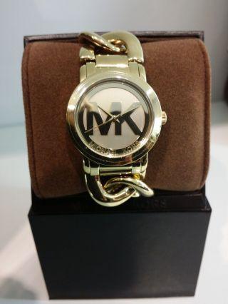 Michael Kors Mk Damen Armband Uhr Edelstahl Gold K3385 Uhren Damenuhren Bild