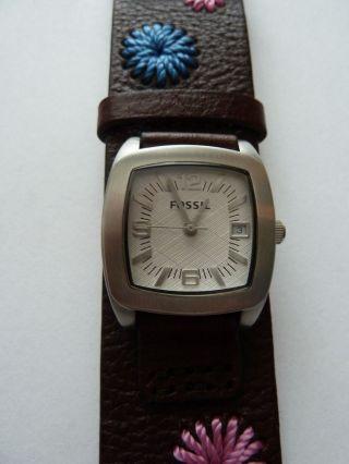 Fossil Jr 1188 Leder Damen Uhr Uvp 89,  99 40 Rabatt Bild
