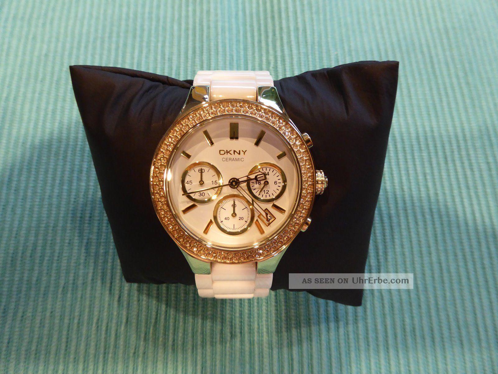 Dkny Ceramic Uhr Ny4986 Damenuhr Chronograph Keramikuhr - Wie Armbanduhren Bild