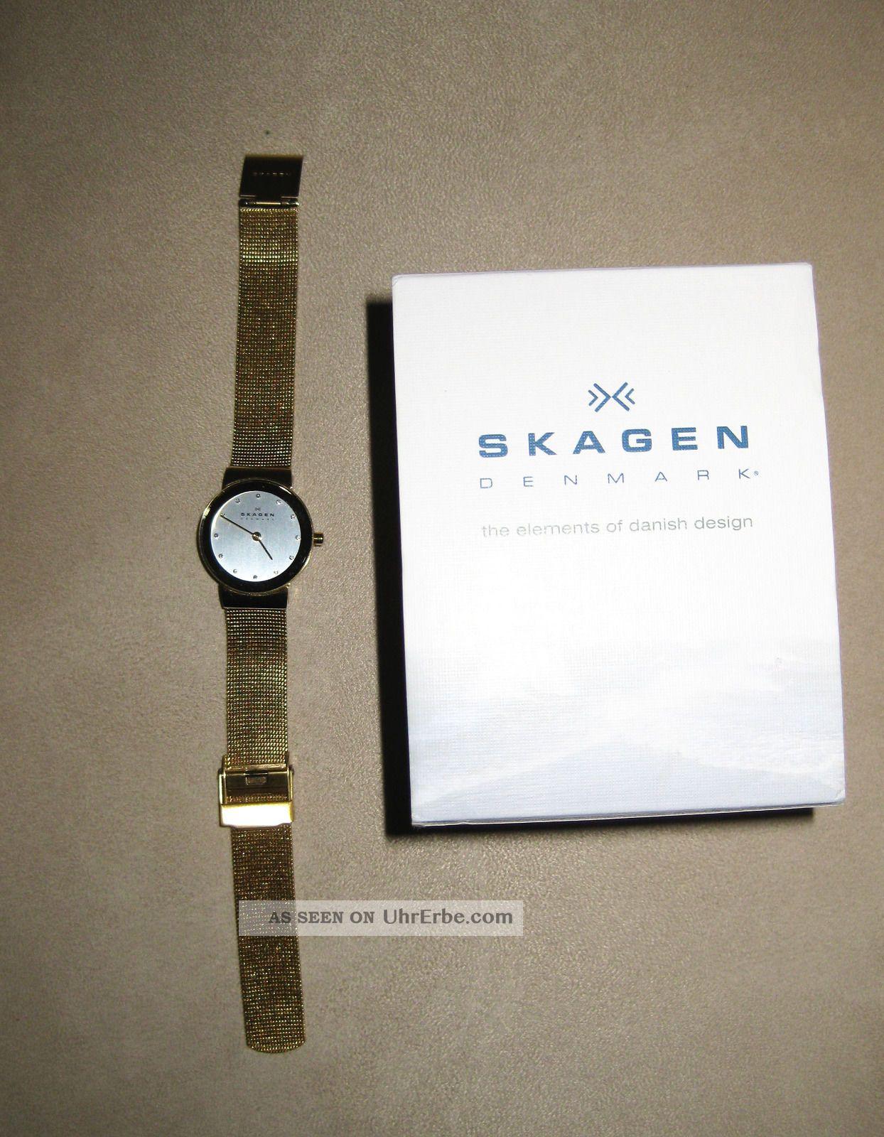 Skagen Damenarmbanduhr Slimline Stahl 358sggd Armbanduhren Bild