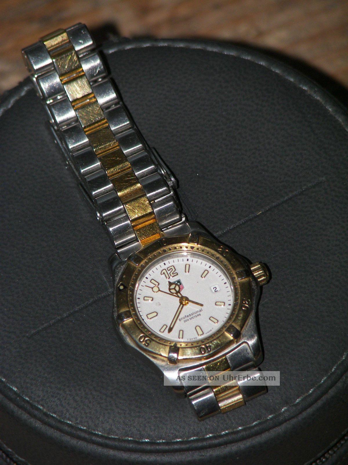 ♥ Tag Heuer Professional Wk1320 Bb0316 Bicolor 18 K Stahl Sport 2000 Vintage Armbanduhren Bild