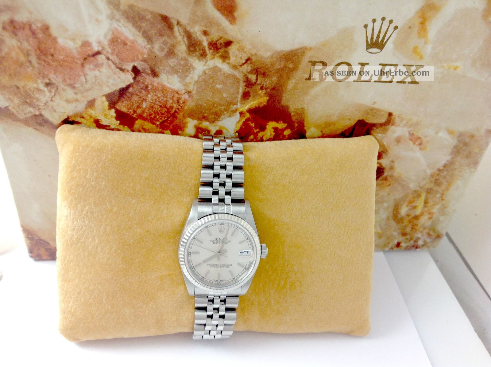 Rolex Date Just Medium Chronometre - Stahl Von August 2001 Armbanduhren Bild