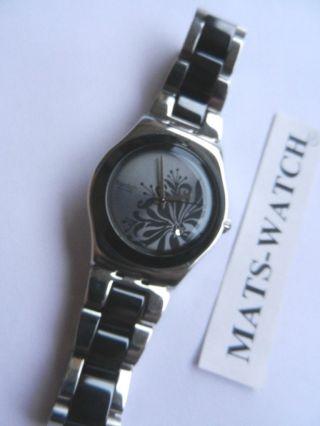 Swatch,  Irony Medium,  Yls146g Black Flower,  Neuwertig Bild