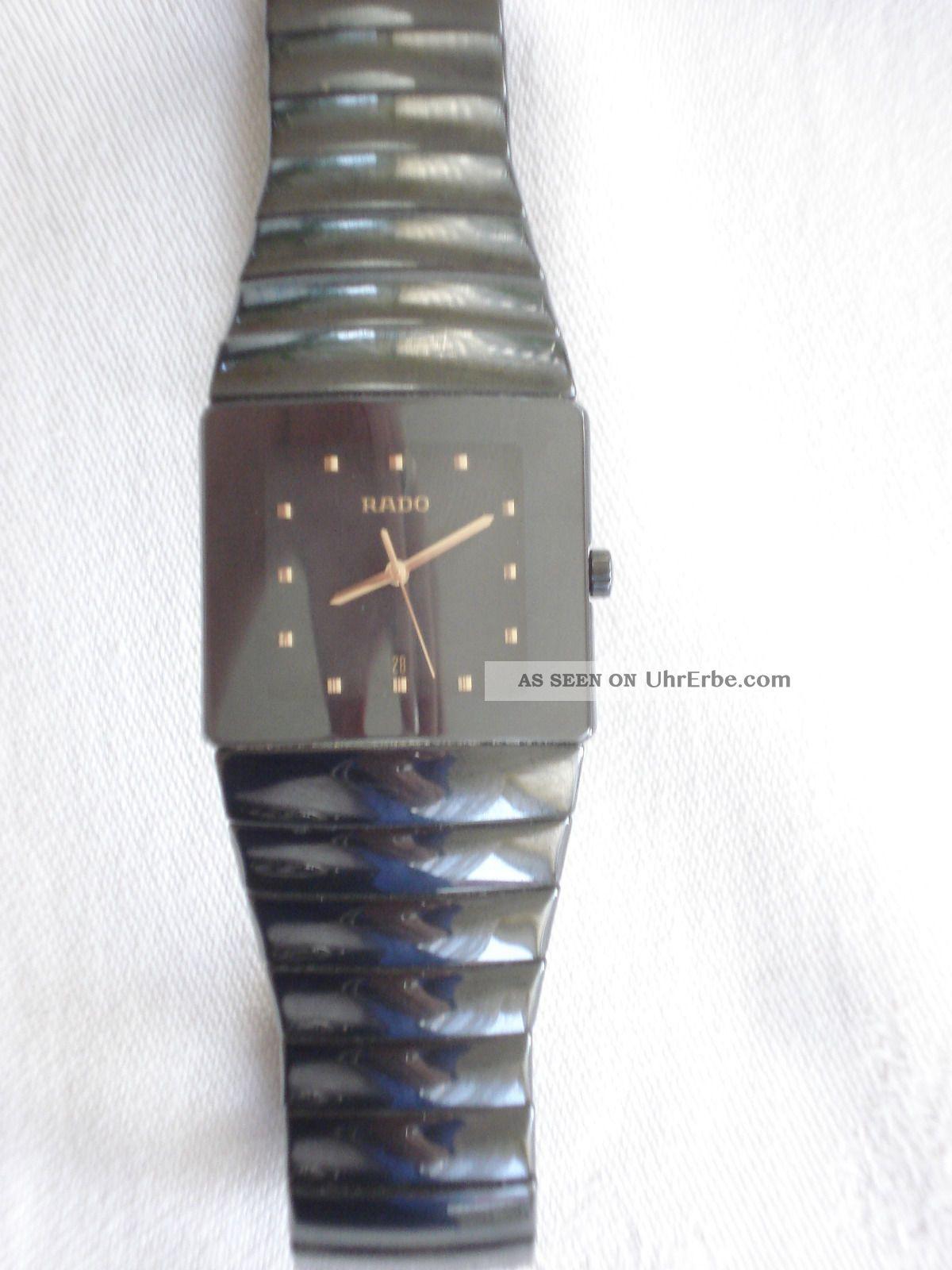Rado Sintra Midi Damen - /herrenuhr Schwarz (analog,  Keramik,  Quarz: Batterie) Armbanduhren Bild