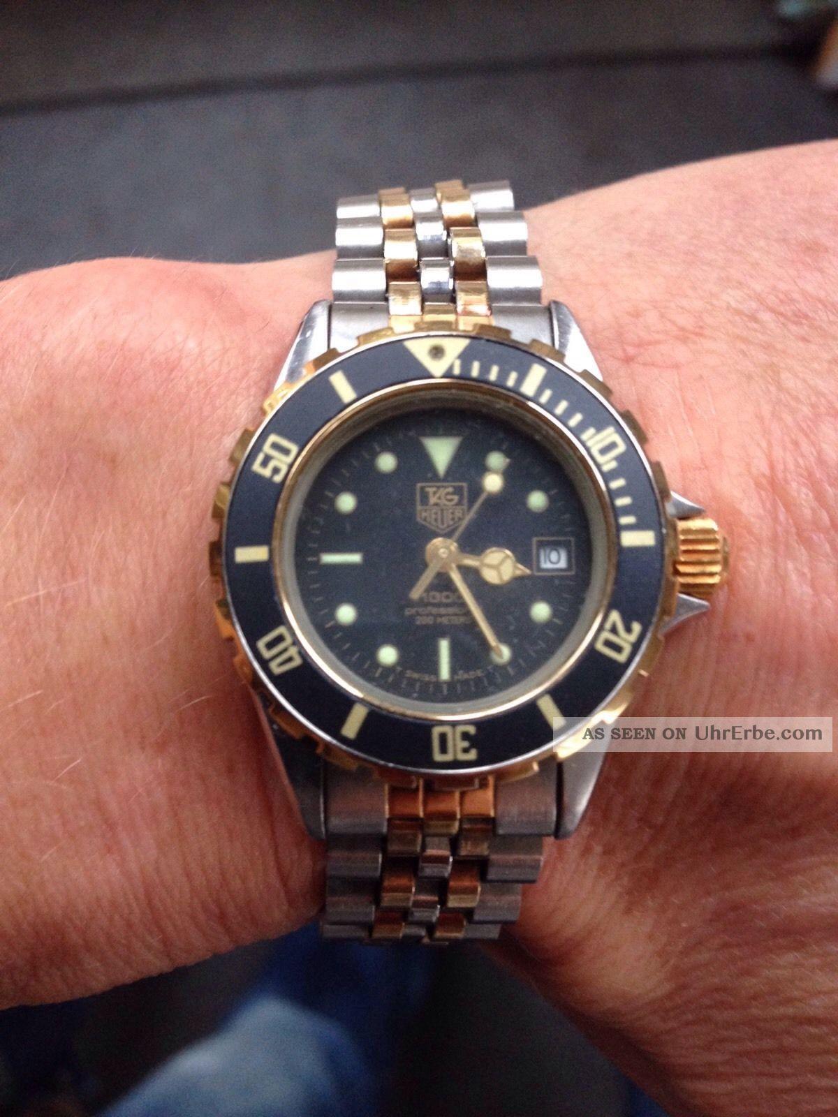 Tag Heuer Professional Diver Taucher 20atm Damen Quartz,  Datum Bicolor Armbanduhren Bild