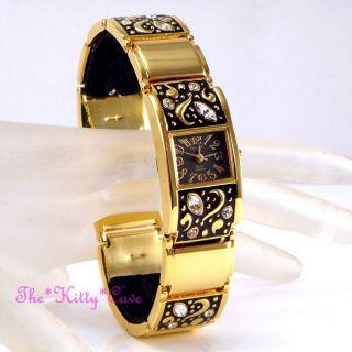 Armbanduhr Omax FÜr Damen Wasserdicht Seiko Golden Überzogen Geblumte Uhr Jes140 Bild