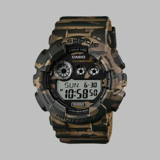 Casio Uhr Watch G - Shock Camo Pack Gd - 120cm - 5er Khaki Woodland Camouflage Bild