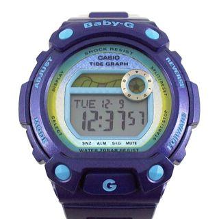 Casio Baby - G Uhr Armbanduhr Alarm Timer Tide Ebbe Flut Lila Violett Blx - 100 - 2er Bild