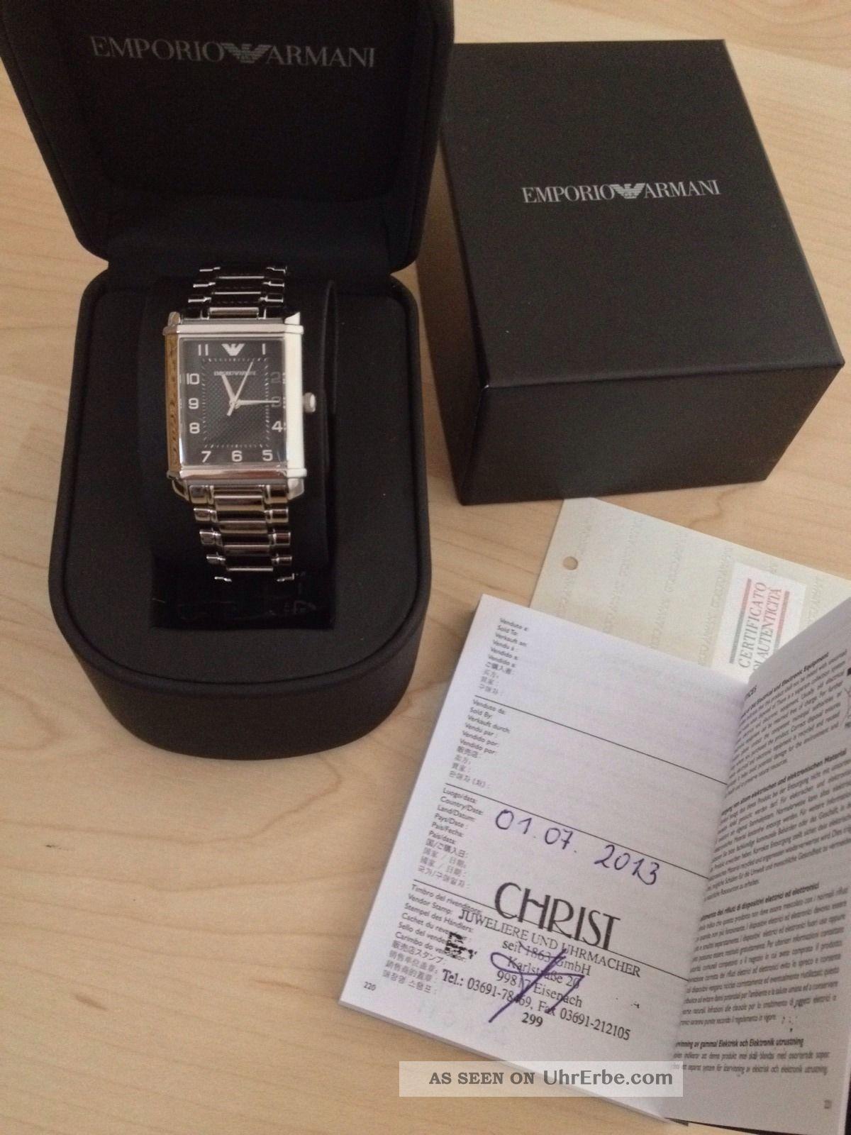 Armani Damenuhr Mit Restgarantie Ar 0494 Uvp 239€ Armbanduhren Bild