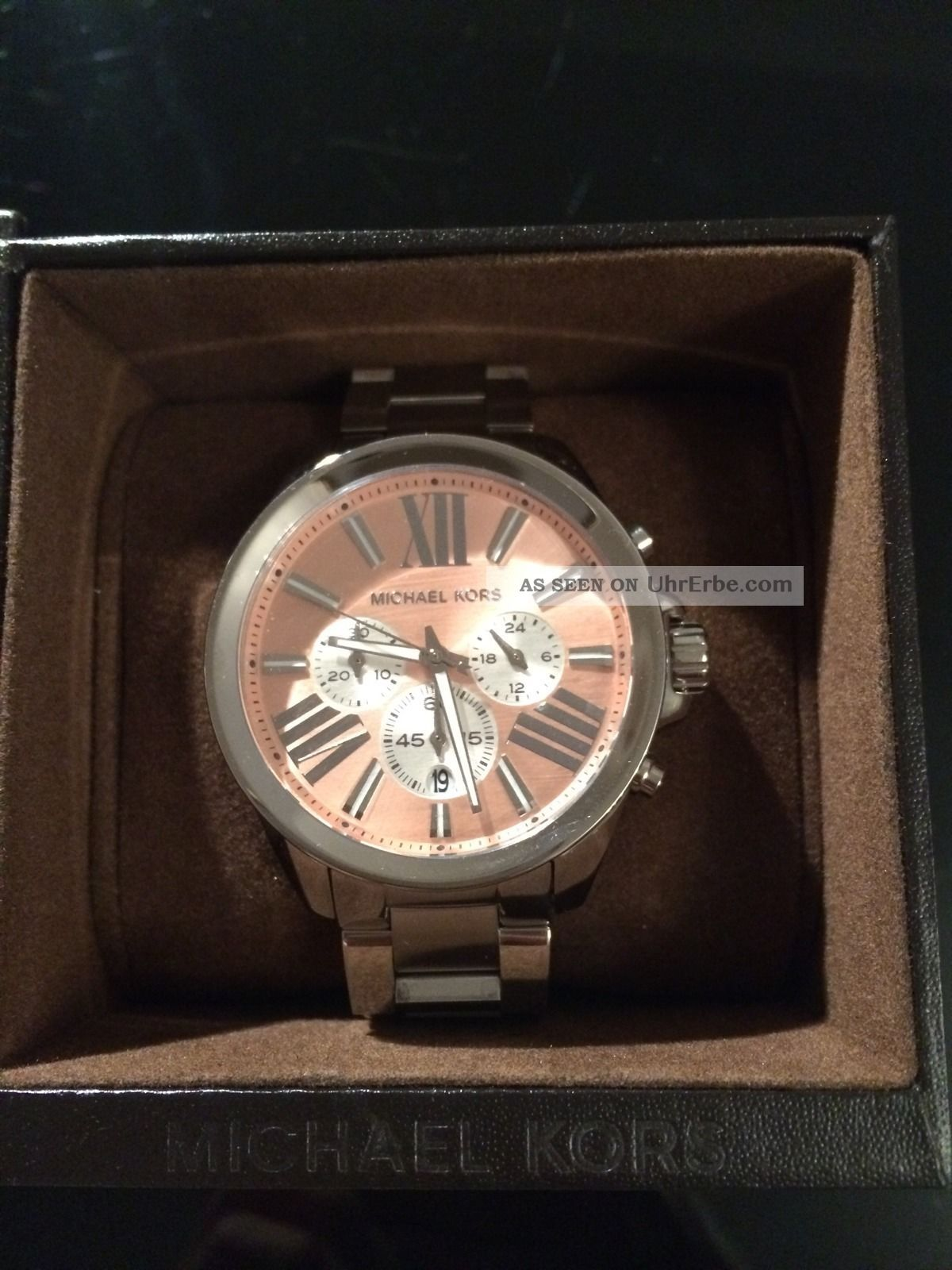 Michael Kors Damenuhr Chronograph Mk5837 Wasserdicht Silber Armbanduhren Bild