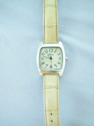 Damen Armbanduhr S.  Oliver Mit Perlmutt - Zifferblatt Beiges Armband Bild