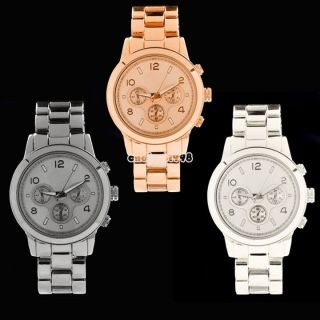 Edelstahl Rose Gold Analog - Frauen - Dame - Quarz - Mann - Armbanduhr Bild