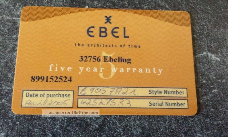 Ebel Beluga Manchette Damen Armbanduhr Mit 8 Diamanten Modell 9057a21 Armbanduhren Bild