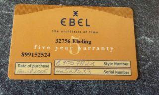 Ebel Beluga Manchette Damen Armbanduhr Mit 8 Diamanten Modell 9057a21 Bild
