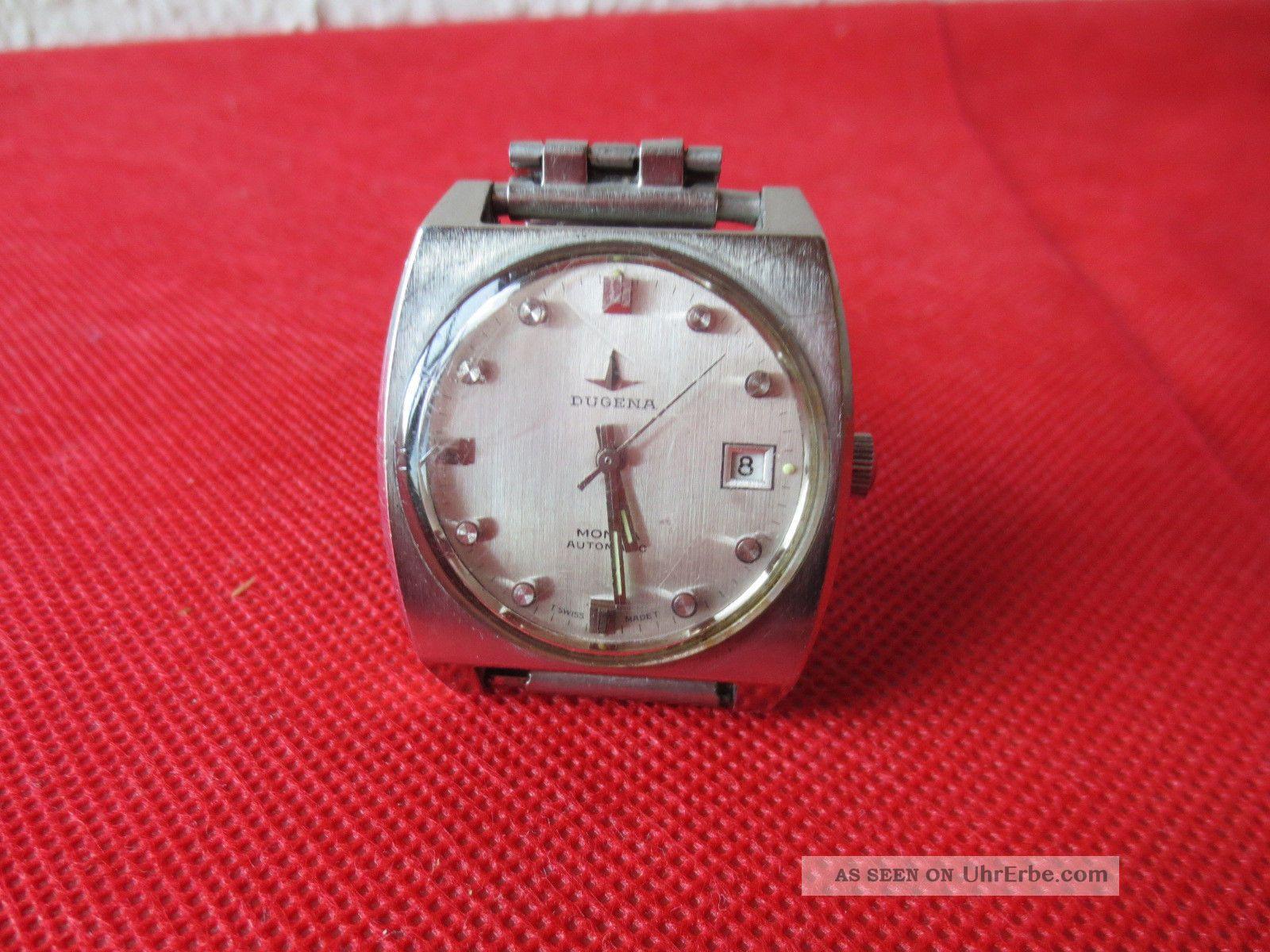 Dugena Monza Automatic Armbanduhr - Swiss Made - Vintage - Wristwatch Selfwinding Armbanduhren Bild
