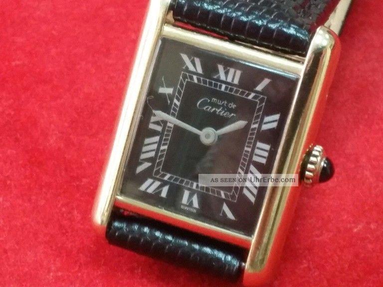 Must De Cartier / Damen / Vergoldet Armbanduhren Bild