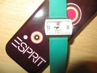 Uhr,  Armbanduhr,  Esprit,  Silber/türkis,  Damenuhr Bild