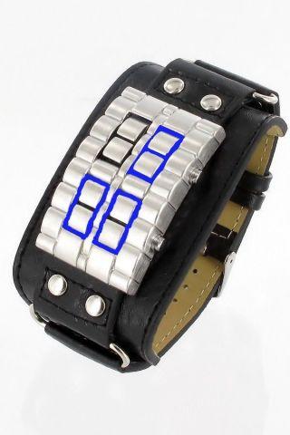 Jay Baxter Light Booster Herren Damen Leder Armband Uhr Unisex Blau Oder Rot Bild