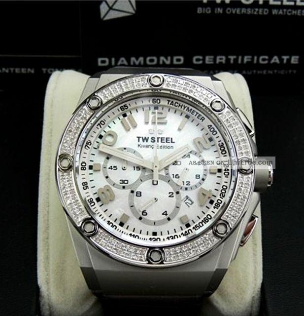 Tw Steel - Ce4005 - Ceo Tech Kıvanç - Diamanten - Weißgold - Np:999€ Armbanduhren Bild