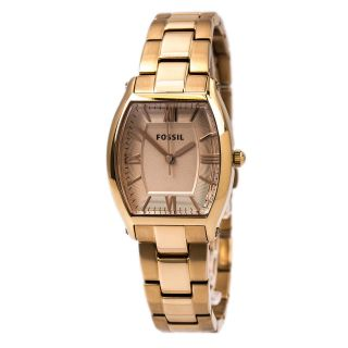 Fossil Es3120 Damenuhr - Wallace - Rotgold Zifferblatt Rotgold Stahl Armband Bild