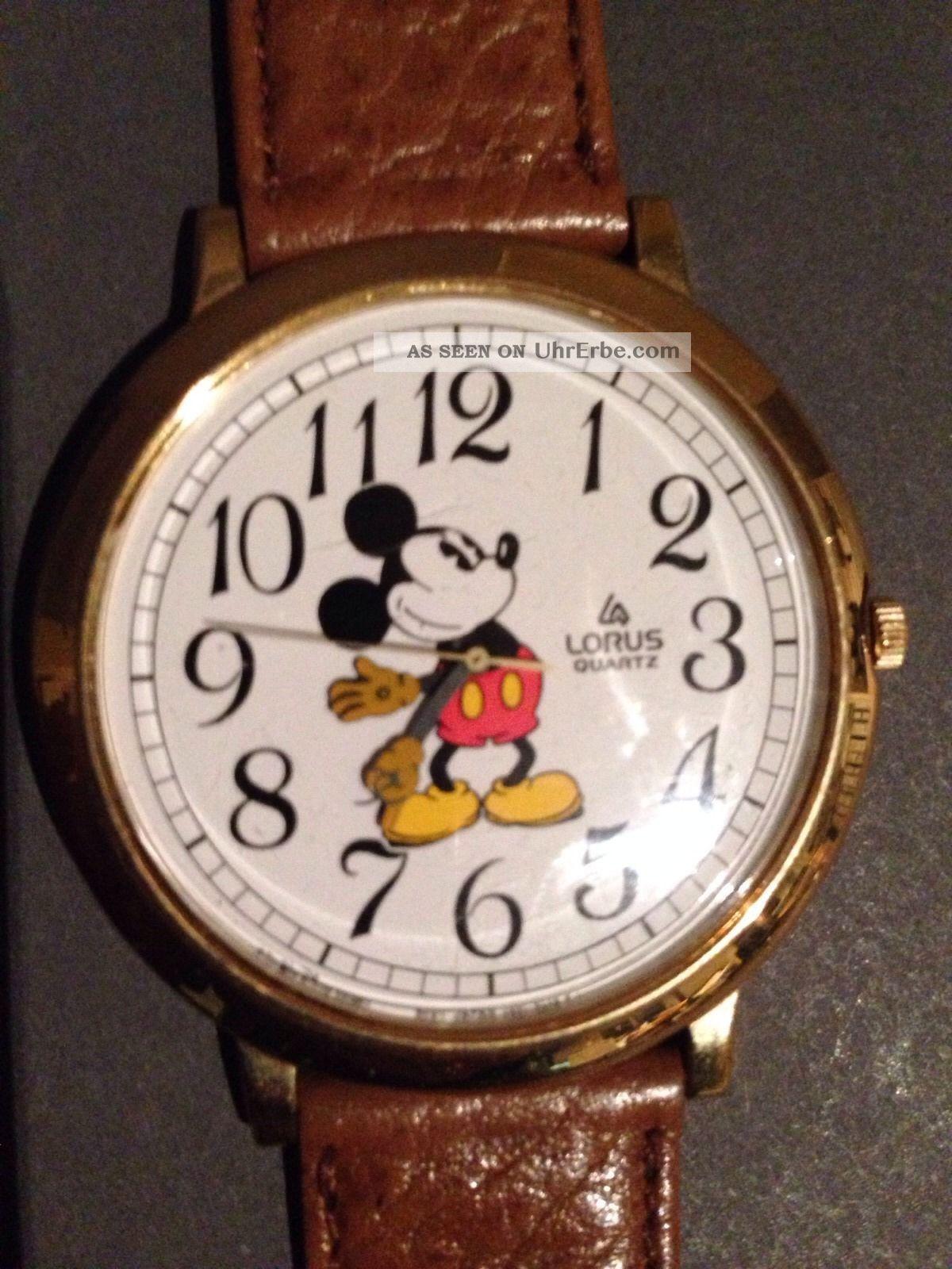 Mickey Maus Uhr Von Lorus Quarz Durchmesser Ca.  4,  5 Cm Armbanduhren Bild
