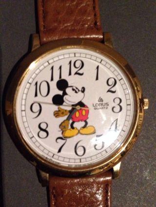 Mickey Maus Uhr Von Lorus Quarz Durchmesser Ca.  4,  5 Cm Bild