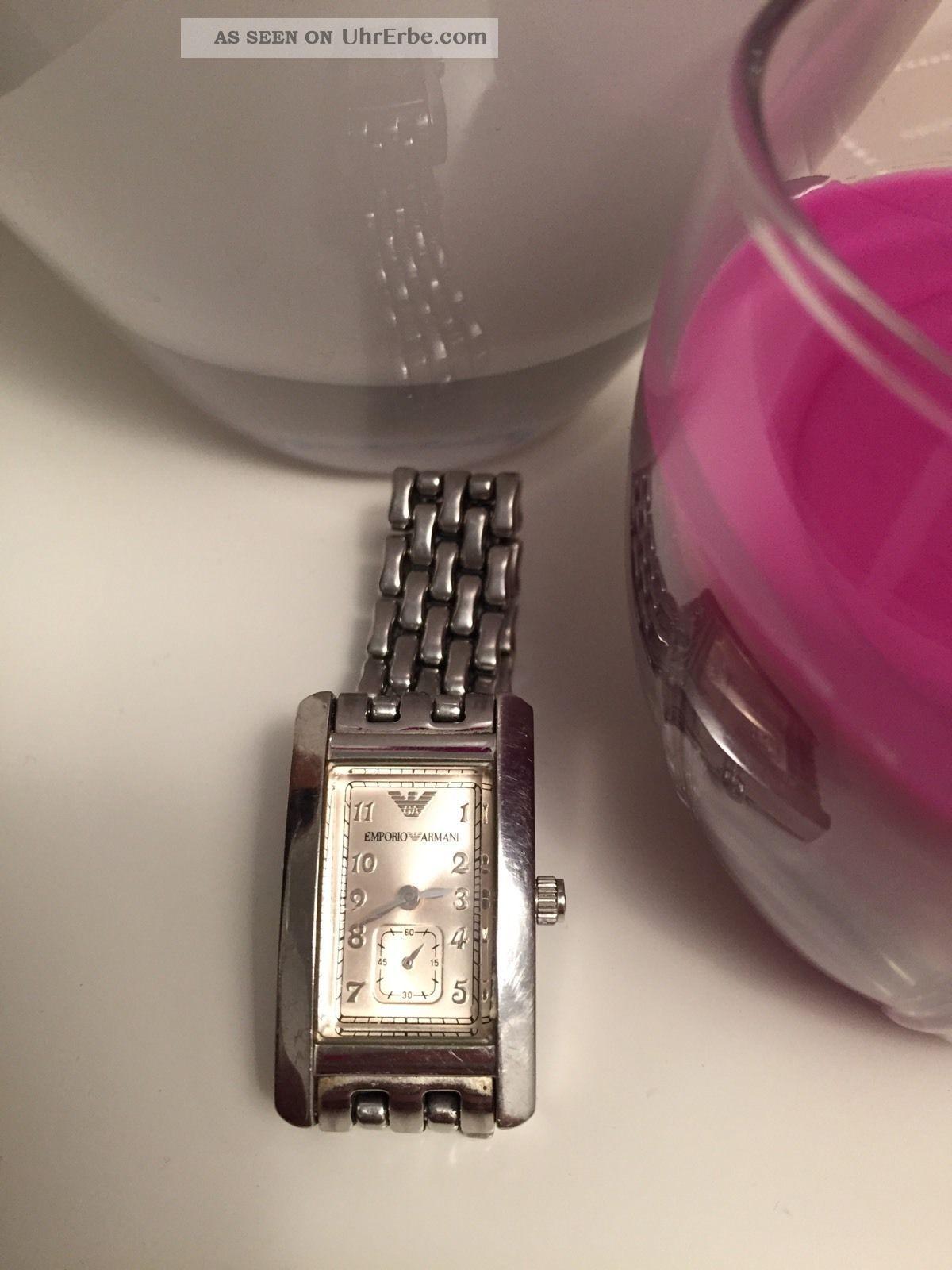 Emporio Armani Damenuhr Silber Armbanduhren Bild
