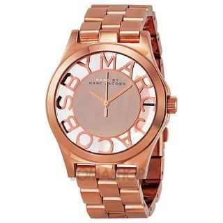 Marc Jacobs Damen Uhr Mbm3207 Henry Skeleton Chronograph Edelstahl Quarz Mode Bild