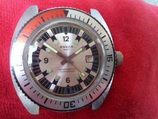 Für Sammler Handaufzug Vintage Herrenuhr Anker 2000 Diver - Stil Bild