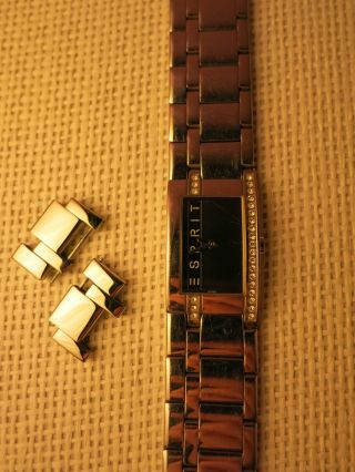 Esprit Armbanduhr Silber Schwarz Glitzer Damen Damenuhr Houston Bild
