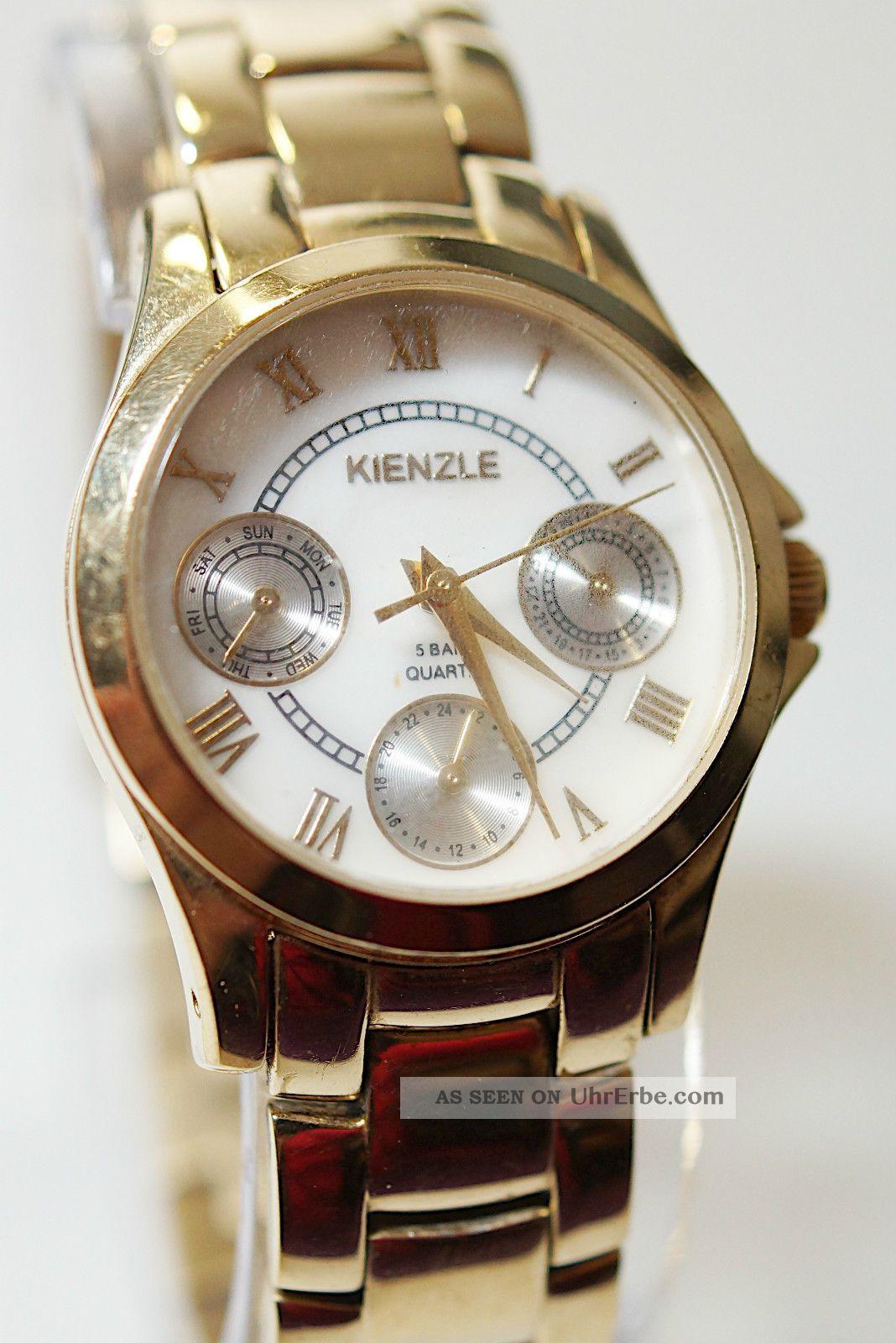 Kienzle 5 Bar Quarz Messing Damenuhr Armband Römische Zahl Funktion Ok Armbanduhren Bild
