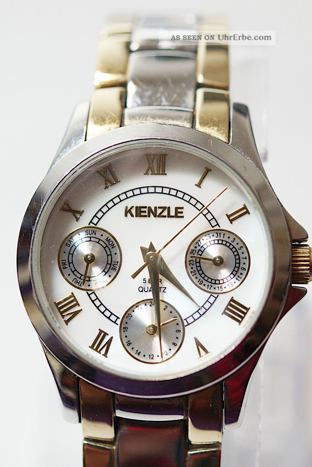 Kienzle 5 Bar Quarz Edelstahl Damenuhr Armband Römische Ziffern Armbanduhren Bild