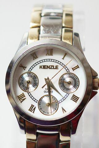 Kienzle 5 Bar Quarz Edelstahl Damenuhr Armband Römische Ziffern Bild