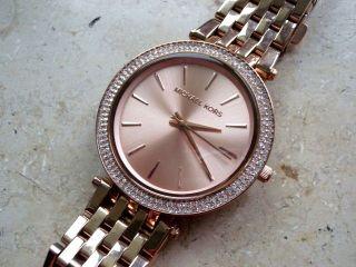Michael Kors 3192 Damen Uhr,  Rotververg.  Stahlgehäuse/armband,  Neuwertig Bild