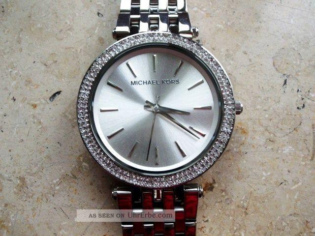 Michael Kors 3190 Damen Uhr,  Rotververg.  Stahlgehäuse/armband,  Neuwertig Armbanduhren Bild