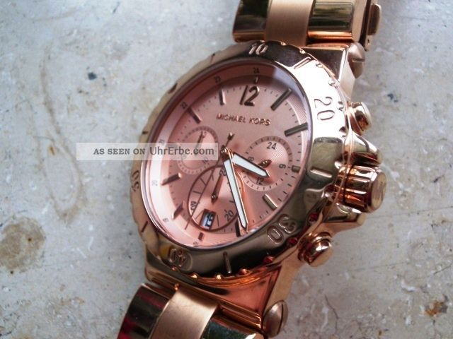 Michael Kors 5314 Damen Chronograph,  Rotververg.  Stahlgehäuse/armband,  Neuwertig Armbanduhren Bild