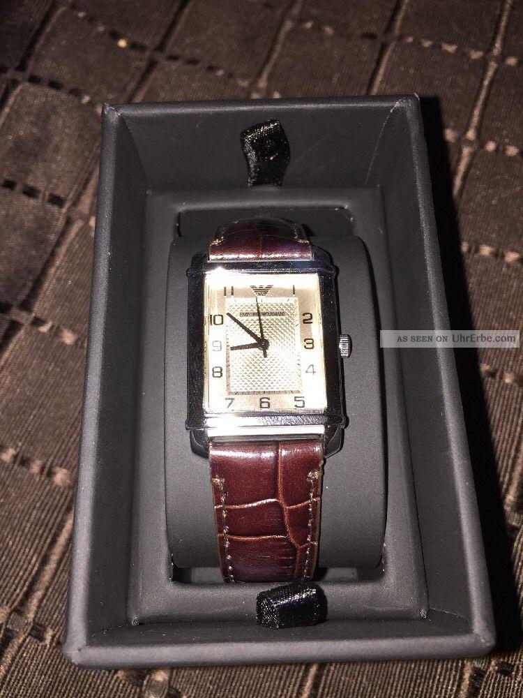 Emporio Armani Frauenuhr Und Ovp Armbanduhren Bild