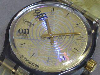 Swatch Musicall Spartito Slm101 Herren - Armbanduhr Alarm Batt.  Ovp Top Bild